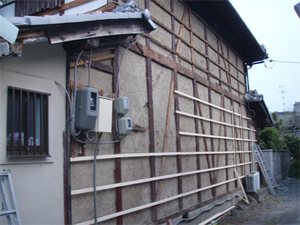 外壁 焼き杉板張替工事