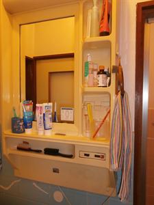 ビフォーアフター 洗面化粧台取替工事