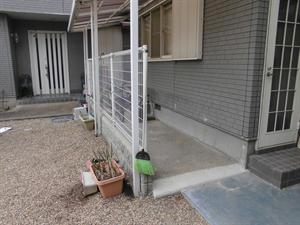 フェンス取り外し・外構工事