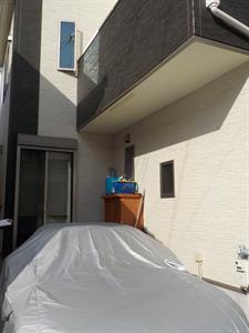 2階テラス屋根・カーポート新設工事