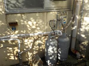 ガス新規供給とガス給湯器取付