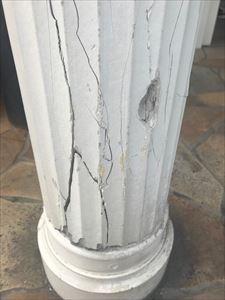 エントランス支柱修繕