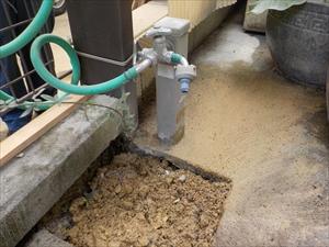 水栓取替・コイルガーデンホース取付