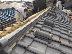 屋根葺替工事 和瓦からガルテクトへ