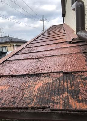 下屋根塗装工事