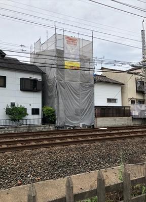 屋根改修工事 カバー工法 スーパーガルテクト葺き